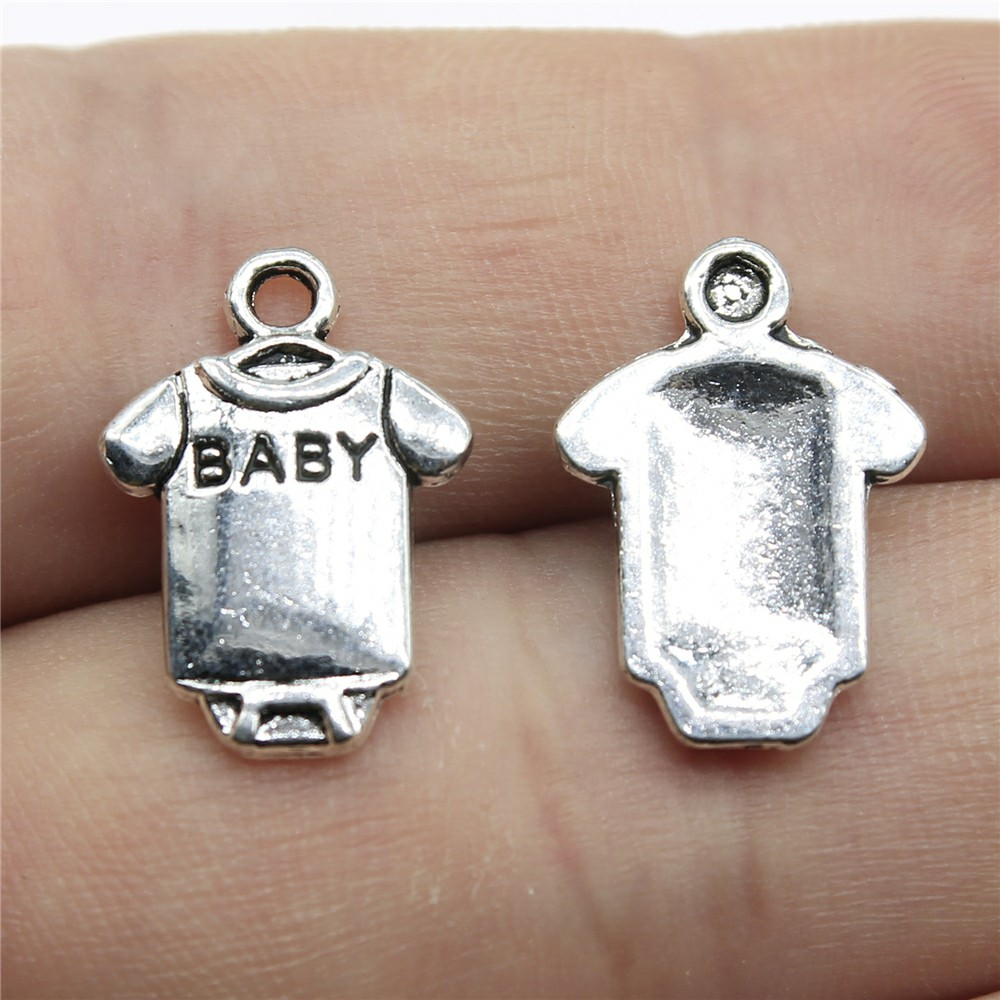 Dummy Charms Tibetan Silver Baby Pendant Pack of 20
