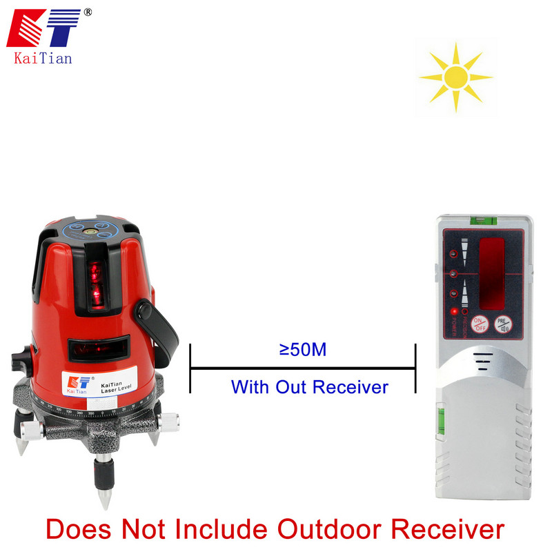 Kaitian 5 Lines 6 Points Laser Level   WITHOUT DETECTOR