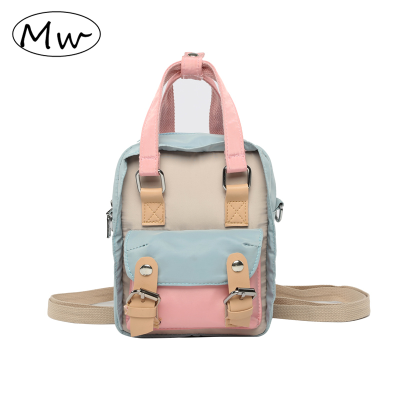Three Color Patchwork Backpack Women Mini Waterproof Bagpack Multifunction Crossbody Shoulder Backpack Girls Travel School BagThree Color Patchwork Backpack Women Mini Waterproof Bagpack Multifunction Crossbody Shoulder Backpack Girls Travel School Bag