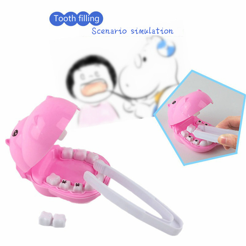 Kids Pretend Play Toy Dentist Check Teeth Model Set Medical Kit Educational Role Play Simulation Learing Toys For Children in Doctor Toys from Toys Hobbies