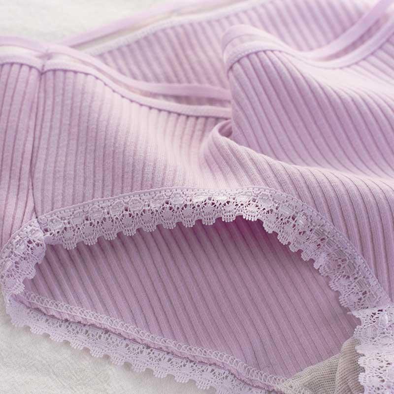 Women's Cotton Panties Female Striped Breathable Briefs Sexy Lace Decoration Underwear Women Plus Size L XL XXL Lingerie Intimates  (13)