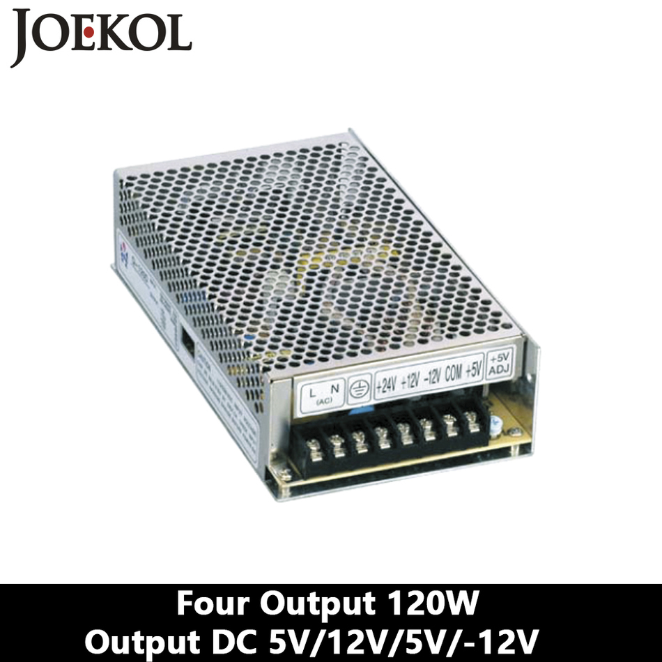 Four Output Switching Power Supply 120W 5V 12V -5V -12V,Ac Dc Converter,110V/220V Transformer To DC 5V/12V/-5V/-12V switching power supply adapter ac 90v 240v to dc 5v 300ma 1 5w buck converter voltage regulator driver module
