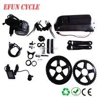 Free shipping 8Fun/Bafang BBS02B 36V 500W mid drive motor kits with 36V 15Ah USB down tube battery for fat tire bike/city bike