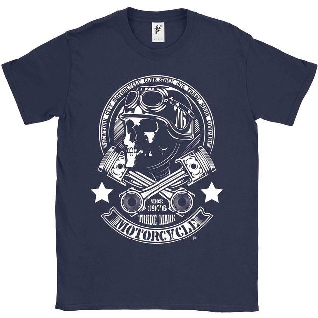 2018 Fashion Hot sale New York City Motorcycle Club Skull Rider Cross Parts  Mens T-Shirt Tee shirt 447da0473c4