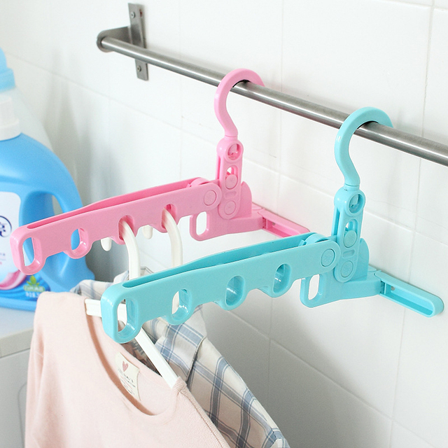 Aliexpress.com : Buy 1pc Plastic Folded Hanger For Clothes Pegs Wire ...