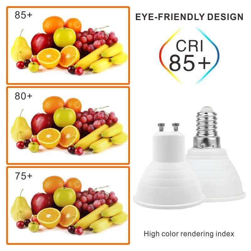 LED ampul E27 E14 MR16 GU10 GU5.3 Lampada Led 6W 220V-240V 24/120 derece Bombillas LED lamba Spot Lampara LED Spot ışık