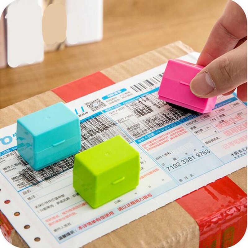 1Pc Guard แสตมป์ Roller Stamp Seal นักเรียนเครื่องเขียน Keep Secret กระดาษรหัสความเป็นส่วนตัวป้องกันเครื่องมือสำหรับเด็กของเล่น