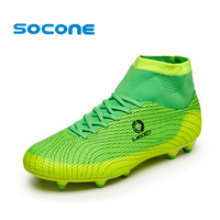 Socone Men Professional Soccer Shoes Kids Boys FG Cleats Long Spike Football Shoes Outdoor Training Sneakers