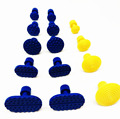 2016 new design 14 pcs high quality paintless dent repair tools nylon material yellow PDR tools glue pulling tabs