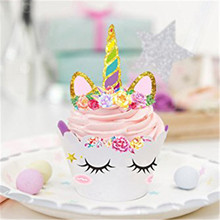 Birthday Unicorn Party Cupcake Wrappers & Topper 24pcs