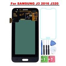 """Super AMOLED 5,0 """"Pantalla para Samsung Galaxy J3 2016 J320 pantalla LCD J320A J320F J320M, reemplazo de digitalizador de pantalla táctil de la parte"""