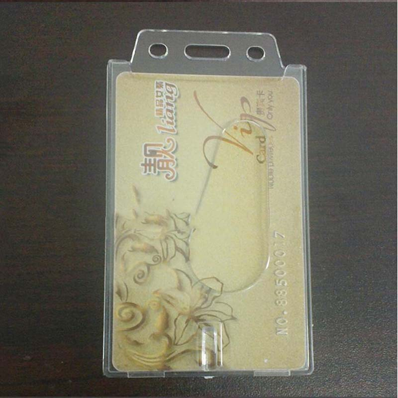 1 Pcs Transparent Plastic Hard Slide Out Card Holder Credit / Bank ...