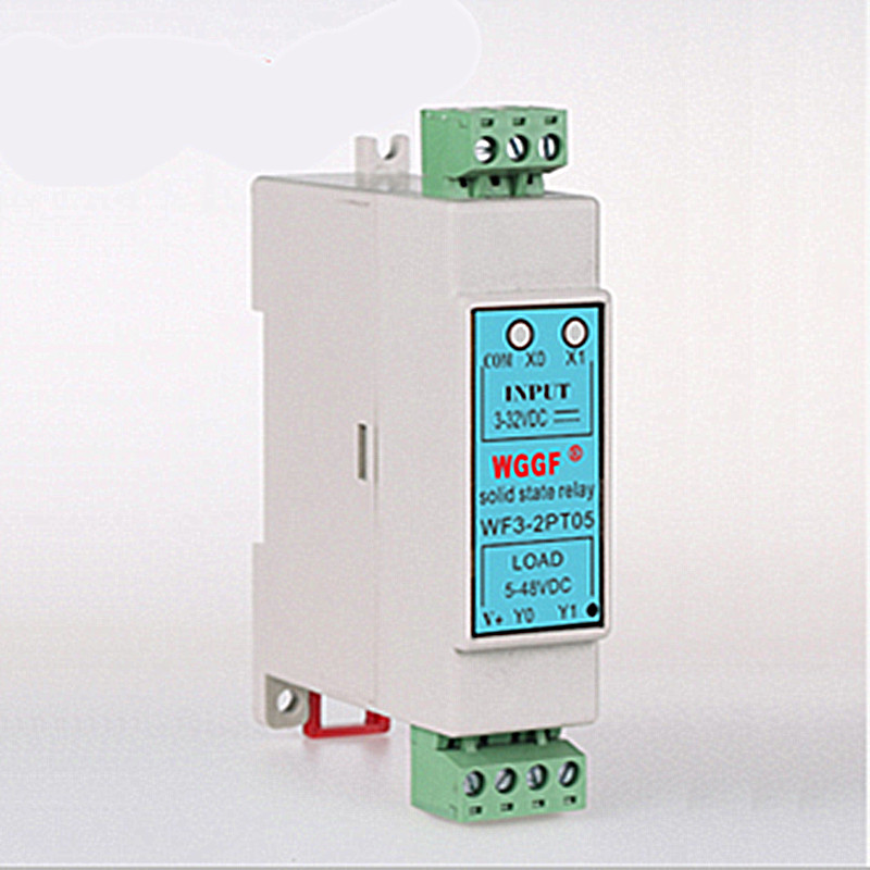 цена на Din Guide 2Loop SSR 5A  Compact Solid State Relay with Heat Sink