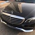 Lapetus Авто Стайлинг передний бампер в полоску спойлер для губ + Защитная угловая Накладка для Mercedes Benz E класс W213 2016-2019