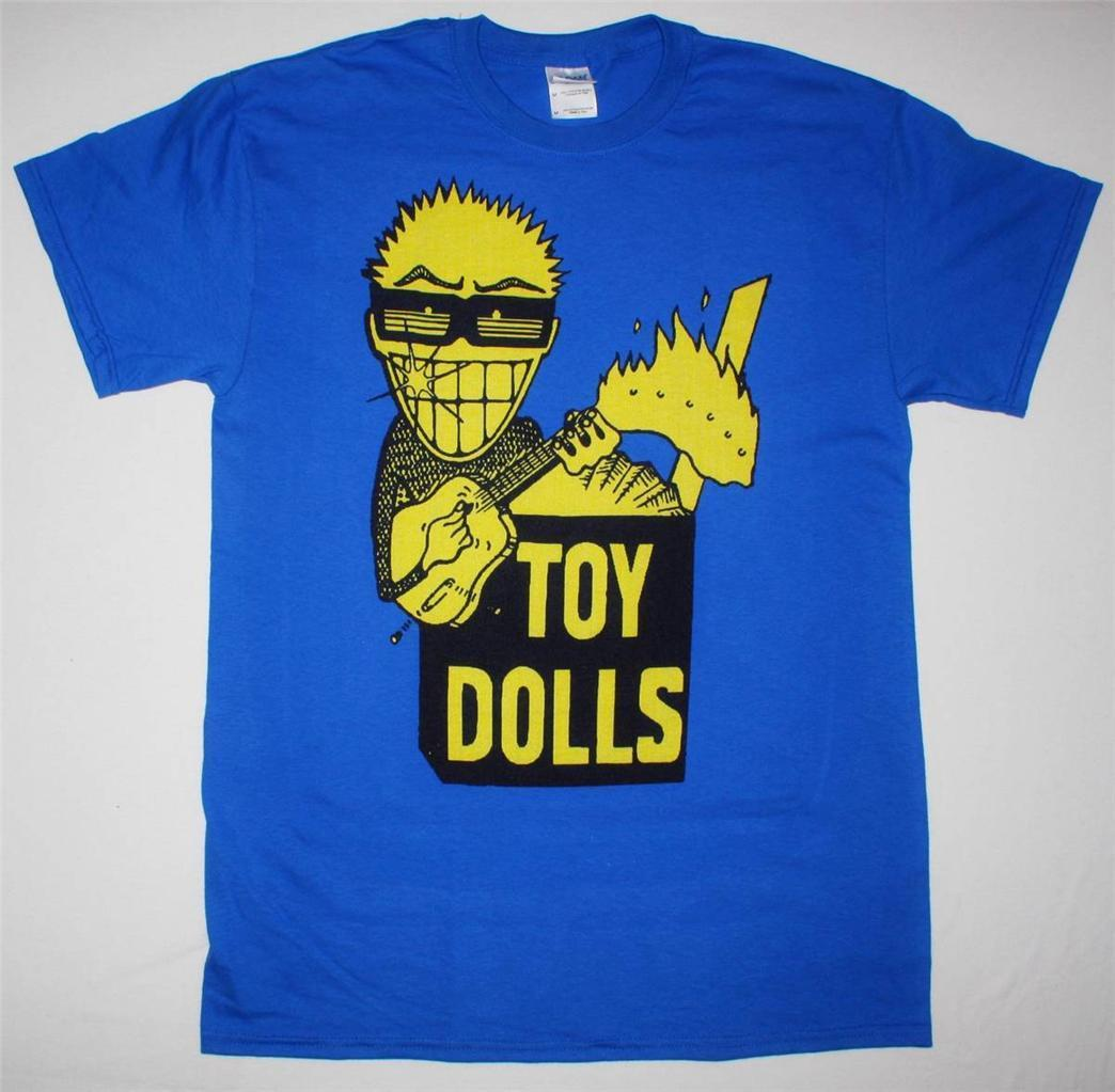 THE TOY DOLLS IDLE GOSSIP PUNK ROCK THE ADICTS GBH NEW BLUE OR YELLOW T-SHIRT