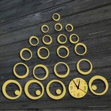 Modern Design DIY Acrylic 3D Mirror Wall Clock, Multi Rings, Crystal Quartz