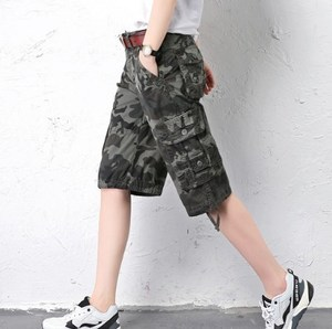 womens Plus Size Summer Casual Camouflage Shorts For Women Cotton Loose Cargo Shorts Knee Length Camo Short Pants Multi Pockets