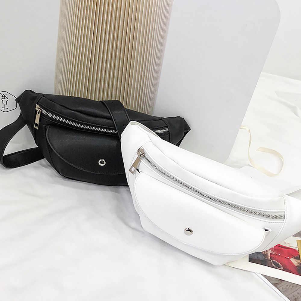 Eenvoudige Pure Kleur Vrouwen Mini Messenger Bag Pu Leer Meisjes Casual Schoudertassen Vrouwelijke Kleine Taille Tas Bolso Cintura Mujer #061