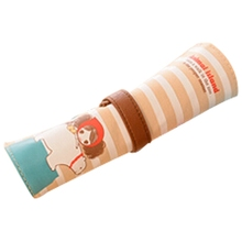 NEW Pencil case is big capacity canvas contracted coils of pencil bags girl lovely pencil box pen curtain white