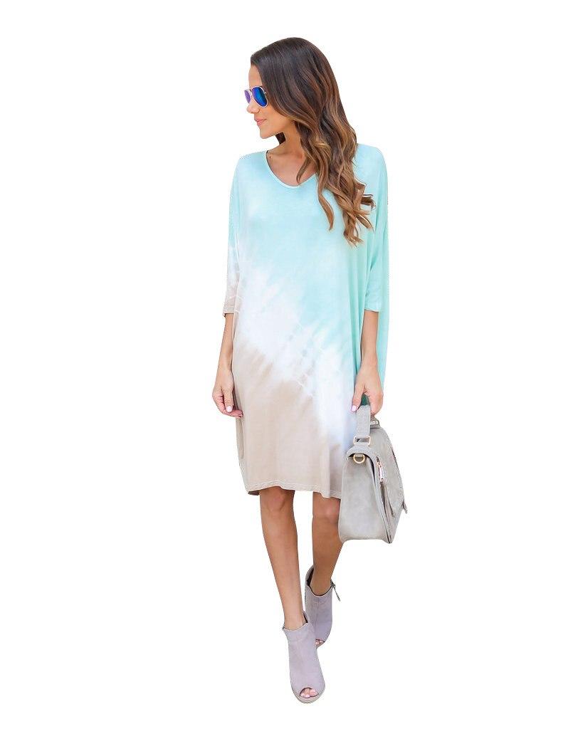 Misstyle Summer Women Half Sleeve Print Loose Dress Casual Beach Style 2017 Fashion Midi Dresses Robe Femme Vestidos Retro