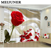 Meijuner 3D Luxury Curtains Window Curtain Living Room Blackout curtains Wedding Bedroom Cortinas Dormitorio for Valentine's Day