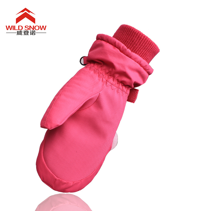 -30 Winter Ski Gloves Kids Children Winter Girls Boys Snow Sport Warm Waterproof Windproof Cute Glove