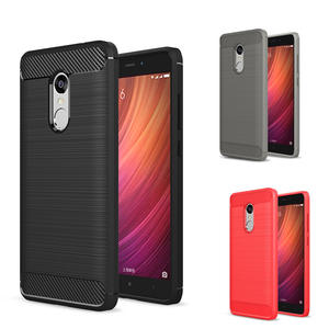 Phone Case For Xiaomi Redmi Note 4 Luxury Slim Armor Carbon Fiber Protection soft