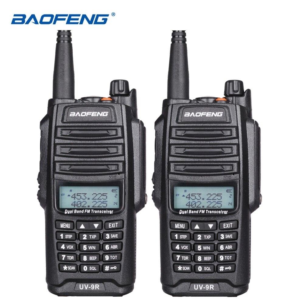 2 pcs D'origine Baofeng UV-9R Talkie Walkie 10 km IP67 Étanche Double Bande UV9R Jambon Radio Comunicador UV 9R CB radio Émetteur-Récepteur