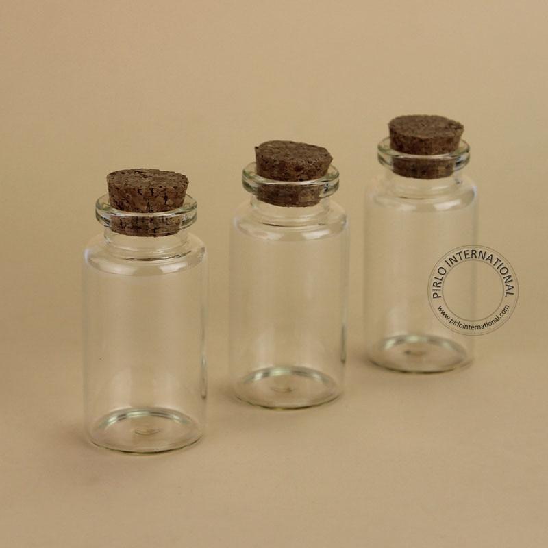 100 sztuk/partia hurtownie 25 ml szklany korek butelka pusta fiolka na próbki do dekoracji domu, które chcą pudełko pojemnik wielokrotnego napełniania mały garnek w Butelki wielokrotnego użytku od Uroda i zdrowie na  Grupa 2