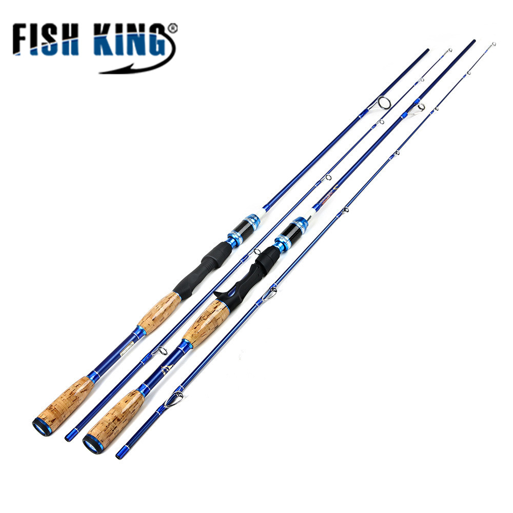 FISH KING 99% Carbon Material 1.8M-2.1M Standard 2 SEC C.W15-40 Weight 180g Spinning Casting Fishing Rod For Lure Fishing fish king 99