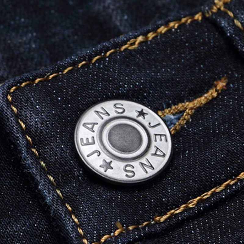 Jantour 2017 nuovi Uomini di lusso di marca nero dei jeans degli uomini del cotone skinny Slim Solid Casual Denim Stretch jean mens lungo pantaloni maschio