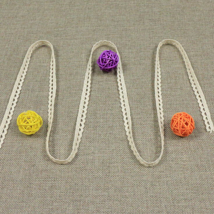 Apparel Sewing & Fabric 1.0cm Width 100% Cotton S Shape Single Weaving Lace Trims Home Garden Decorative Accessary Z596
