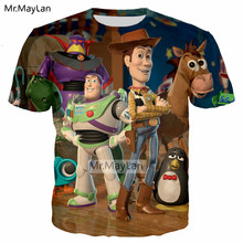 Cartoon Toy Story Buzz Lightyear 3D Print T shirt Men/Women Casual Streetwear T-shirt Tshirt Tee Boys Tops Clothes Harajuku 5XL цены