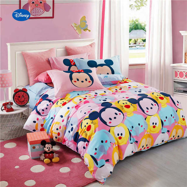 Mickey Minnie Mouse Tigers Printed Comforter Bedding Set Girlu0027s Bedroom  600TC Cotton Bed Cover Single Twin