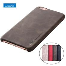 For iPhone 8 /8 plus case, X-Level Luxury Vintage Leather Case for iPhone 6 6s Plus Back Cover Case for iPhone X 7 7 Plus hoesje