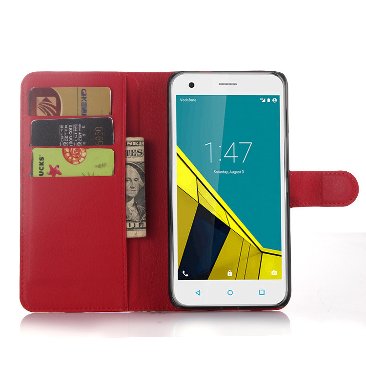 Wallet Flip PU Leather Case Cover For Vodafone Smart ultra 6 Case Cell Phone Shell Back Cover Card Holder Stand Coque Fundas