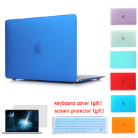 Voor Apple Macbook Air 13 Case Air 11 Pro 13 Retina 12 13 15 Laptoptas Frosted Oppervlak Matte Hard Cover Voor macbook pro 13 Case