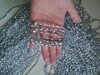 5 kg Oro/Argento 6*3mm Forma di Riso Perline Perline Catena Trim Wedding Party Vacanze Di Natale Decorazione luogo