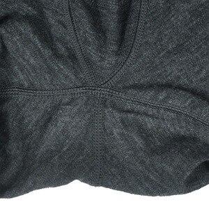 Image 5 - Masculino 100% puro lã merino inverno camada base térmica quente camisola roupa interior respirável meados de peso calças conjunto inferior