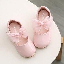 Розовые и белые все Sizes19-27 детская обувь из искусственной кожи милые повседневные стильные туфли для девочек мягкая удобная принцесса без шнуровки детская обувь