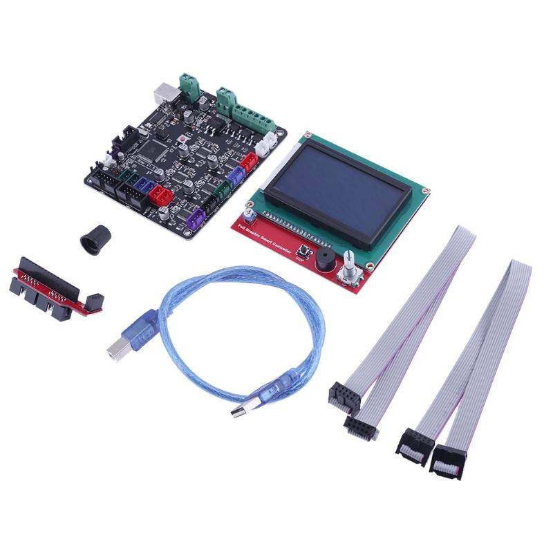3D Printer Motherboard MKS BASE V1.5 with 12864 LCD  Display Screen Control Board Kit Compatiable for Ramps1.4 3d printer contol card mks base mks tft28 touch screen kit all in one controller starter kits imprimante reprap control panel