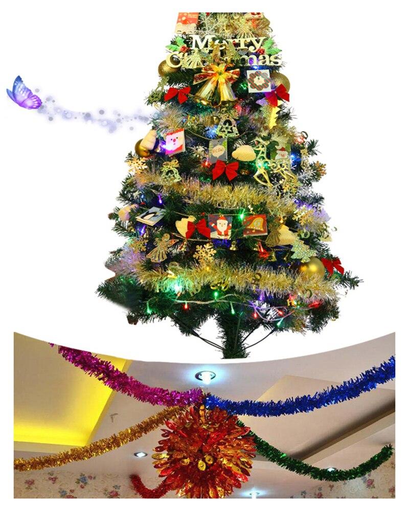 1.8M Christmas Tinsel Decorations Party Ribbon Garland