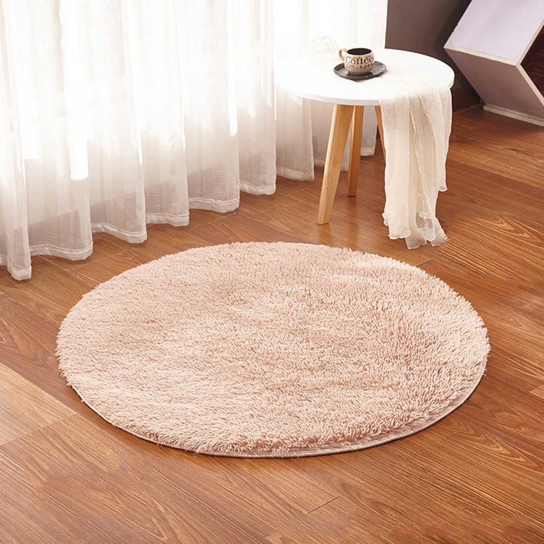 Мягкая гостиная пушистый круглый коврик ковер для килим искусственного меха ковер для детской комнаты длинные плюшевые ковры для спальни мохнатый ковер