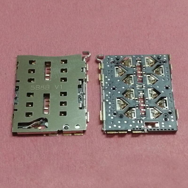 2pcs double Booth SIM Card Reader Slot tray Holder Connector for ZTE Z9 mini Z9mini Q5-T NX508J NX511J Socket plug