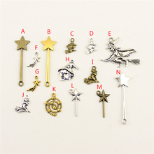 20Pcs Wholesale Bulk Jewelry Findings Components Witch Diy Accessories Female HK131