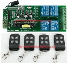 85 v ~ 250 V 110 V 220 V 230 V 4CH RF Sans Fil Télécommande Relais Commutateur Système de Sécurité Portes de Garage, roulant Électrique Portes