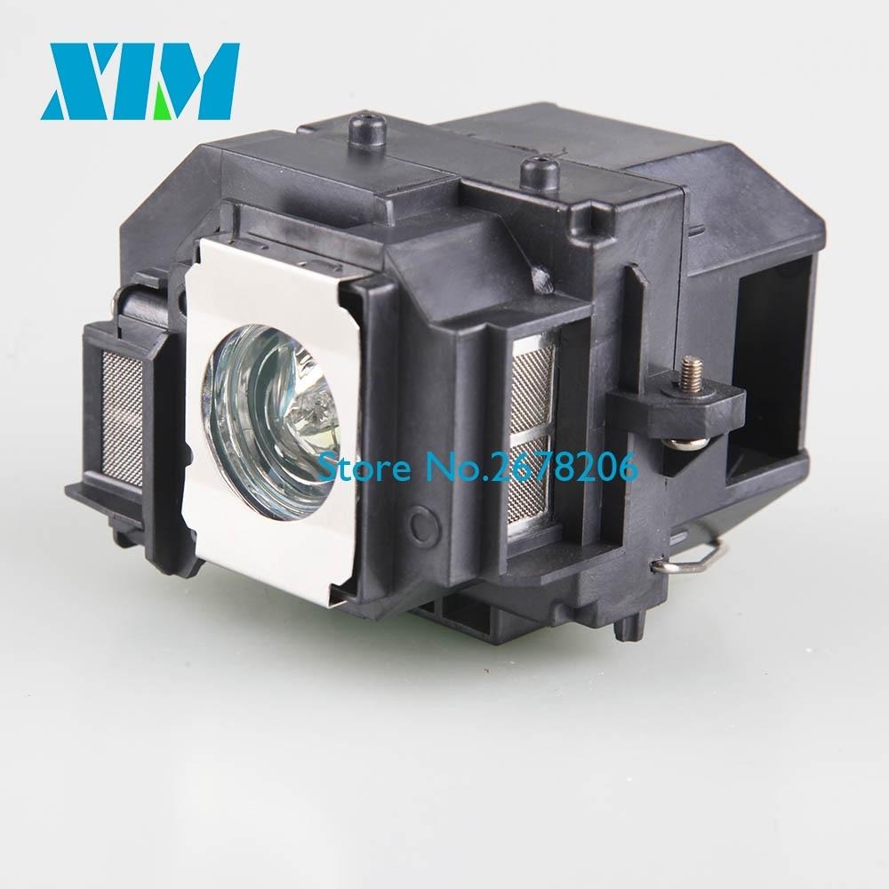 200 Watt UHE Bulb ELPLP54 Replacement. Projector Lamp with housing for EPSON 705HD S7 W7 S8+ EX31 EX51 EX71 EB-S7 X7 S72 X72 S8 lamp housing for epson ep v13h010l27 epv13h010l27 projector dlp lcd bulb