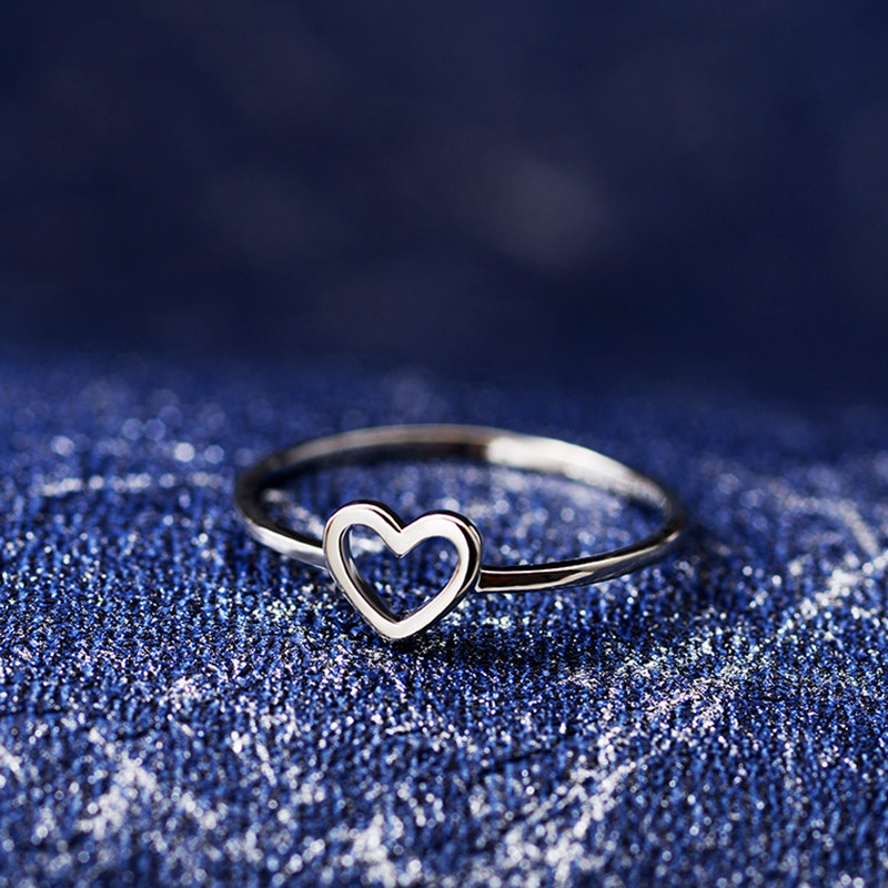 New Fashion Cute Romantic Rings Rose Gold Plate Heart Shape Wedding Bridal Ring Jewelry for Women Girl Gifts|Rings|   - AliExpress