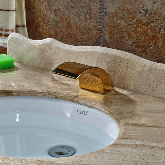 Basin Countertop Faucet Spout without Handles Waterfall Replace ...