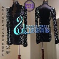 Настройка высокого качества Костюмы для латиноамериканских танцев рубашки Костюмы для латиноамериканских танцев платье для танцев Костюм